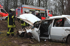 Serious car crash Royalty Free Stock Images