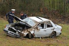 Serious car crash Stock Photography