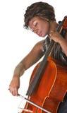 Serious Cello Performer Stock Image