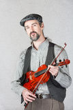 Serious Celtic Folk Musician Royalty Free Stock Image