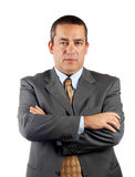 Serious CEO. Standing over a white background royalty free stock photos