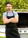 Serious Chef Outdoors Royalty Free Stock Image