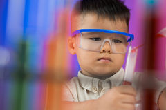 Serious chemist Royalty Free Stock Photography