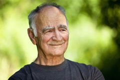 Elderly man dreaming royalty free stock images