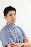 Serious chinese man Stock Photos