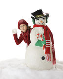 Serious Christmas Snowball Fight Royalty Free Stock Photography