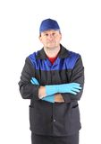 Serious cleaner. Stock Photo