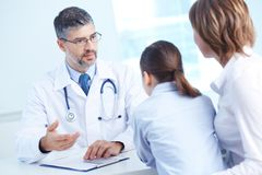 Serious clinician Stock Photography