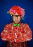 Serious clown Stock Image