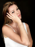 Serious Concerned Young Woman Royalty Free Stock Images