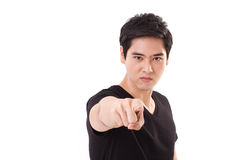 Serious, confident, angry man pointing at you Royalty Free Stock Photo