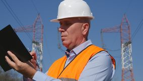 Serious and Confident Engineer Image Write in Agenda stock photos