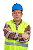 Serious construction worker Royalty Free Stock Photo