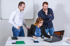 Serious creative team work. In office Royalty Free Stock Image