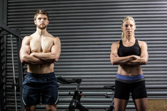 Serious crossfit couple posing Stock Photo