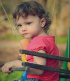 Serious cute baby thinking on Royalty Free Stock Photography