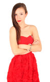 Serious cute young woman Royalty Free Stock Photos