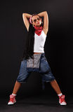 Serious dancer in sunglasses Royalty Free Stock Photos
