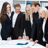 Serious dedicated business team Royalty Free Stock Image