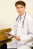 Serious doctor Stock Images
