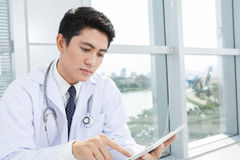Serious doctor Stock Photography