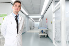 Serious doctor at the hospital Royalty Free Stock Photo