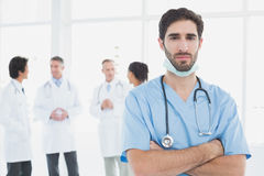 Serious doctor looking at camera Royalty Free Stock Photo