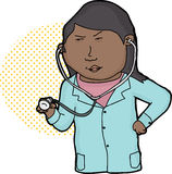 Serious Doctor with Stethoscope Stock Photo