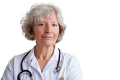Serious elderly female physician Royalty Free Stock Photo