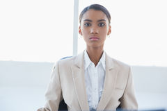 Serious elegant businesswoman posing Stock Photo