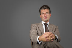 Serious elegant man royalty free stock photos