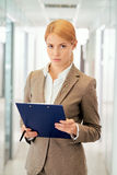 Serious employee Stock Images