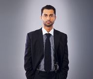 Serious Executive in Business Suit Stock Image