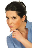 Serious executive woman looking you Royalty Free Stock Image