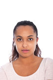 Serious Face of a Young Asian Indian Woman Stock Images