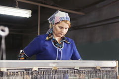 Serious factory worker Royalty Free Stock Photography