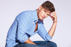 Serious fashion male model Royalty Free Stock Image