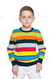 Serious fashion young boy Stock Images