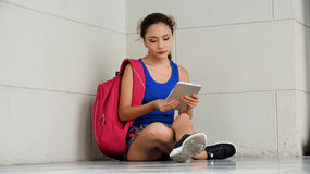 Serious Female College Student. A young and beautiful hispanic female Stock Images