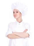Serious female cook Royalty Free Stock Image