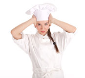 Serious female cook Stock Photography