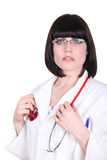 Serious female doctor Royalty Free Stock Photos