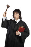 Serious female judge Royalty Free Stock Photos