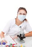 Serious female scientist Royalty Free Stock Photo