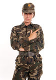 Serious female soldier Royalty Free Stock Photos