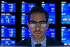 Serious financial broker stock photography