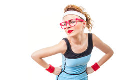 Serious fitness woman Stock Image