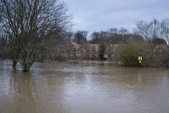 Serious Flooding - Yorkshire - England Royalty Free Stock Photography