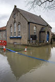 Serious Flooding - Yorkshire - England. Flooding in the village of Old Malton in North Yorkshire in the northeast of England Stock Photo