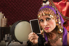 Serious Fortune Teller Royalty Free Stock Photo